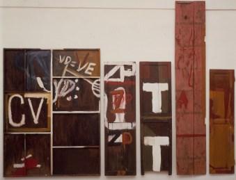 Julian Schnabel, Pino Pascali, 1985, olio su pannelli di legno, cm 277x370, Collezione privata