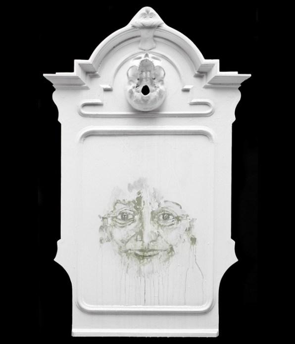 Panel with Vanity, 2012, enamel on wood, cm 110x69x14