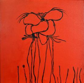 Ettore Sordini, Antropoide, 1957, olio su tela, 60x60 cm