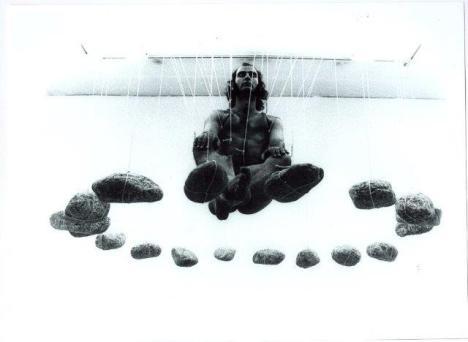 Stelarc, Rock Suspension, 1980, Courtesy Collezione Carlo Palli