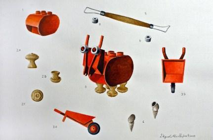 Angelo Maisto, Capra testa a carriola (capra cabillocephala), acquarello su carta