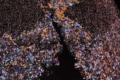 PIER PAOLO MAGGINI, A SUD DI NESSUN NORD N. 1, MILANO, 2012, cm 120X180, TECNICA MISTA SU FOTO. Courtesy Riccardo Costantini Contemporary, Torino