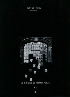 Ugo La Pietra, Ad ognuno la propria realtà. Milano Jabik, 1972 (libro d'artista realizzato in sole 30 copie numerate e firmate dall'artista) Courtesy Libreria-Galleria d'arte Derbylius