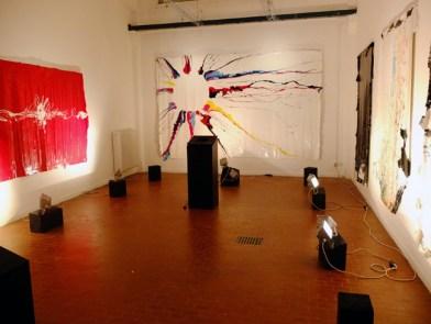 Gianluca Perna, Sharing Art Sales, veduta dell'installazione work in progress