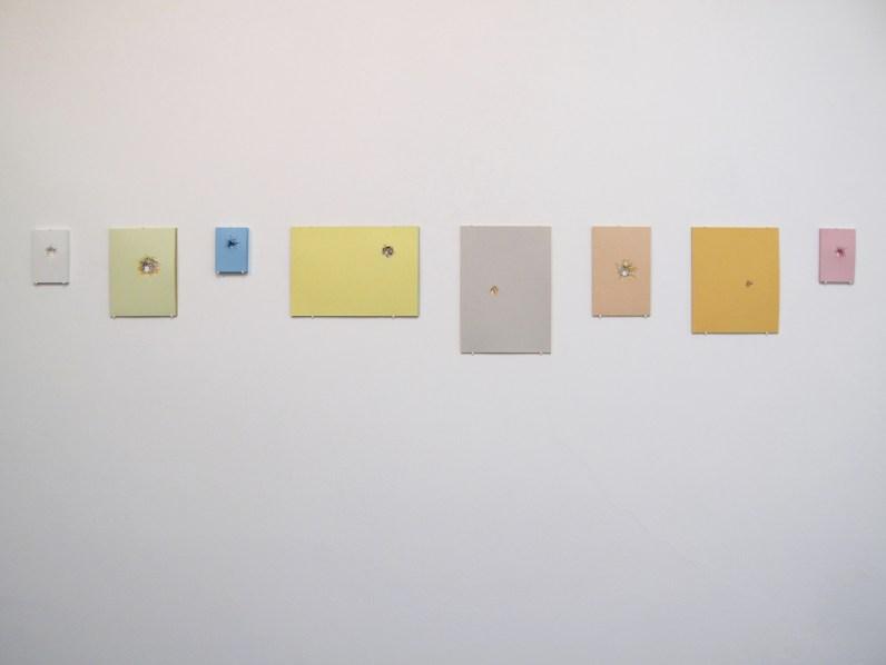 Serena Vestrucci, Ritagli di tempo, 2013, carta, otto moduli, dimensioni variabili, tre mesi Courtesy Otto Zoo