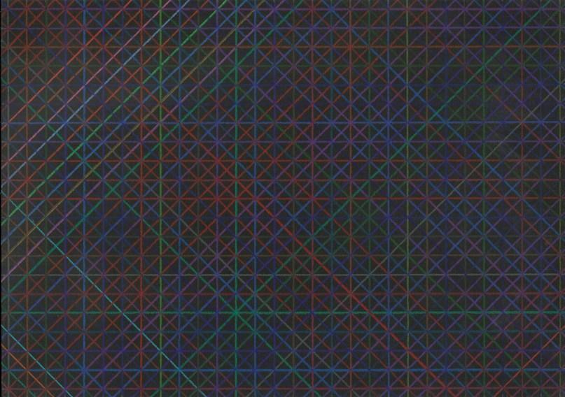 Tamás Jovánovics, '1cm series - Nocturne I', 2012, colour pencil on paper, 21x29.7 cm