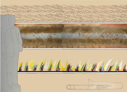 Renato Mambor, Coltivazioni musicali, 2011, dittico, 150x200 cm