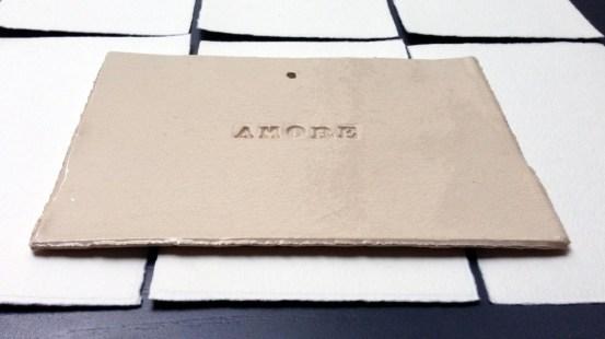 Adriana Albertini. Ceramic words, FABRIANO Boutique, Milano