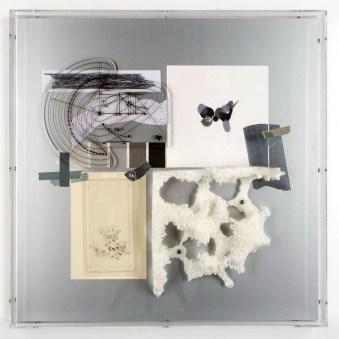 Loris Cecchini, Supposing relations between perception and mathematics, 2013, tecnica mista, 60×60×8 cm Foto di Carole Parodi Courtesy Studio Loris Cecchini