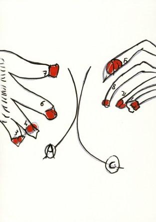 Andrea Guerzoni, AC, 2011, inchiostro su carta cm 29,7x21