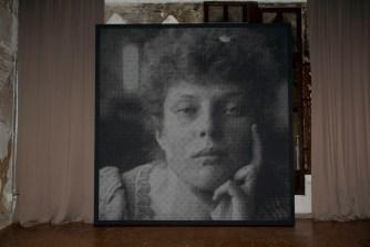 Anne-Karin Furunes, Crystal Images V, 2013, tela dipinta e perforata, 330x320 cm Archivio Fortuny 1895 circa