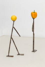 Luca Francesconi, Cafone, 2014, stainless steel worked, vegetable
