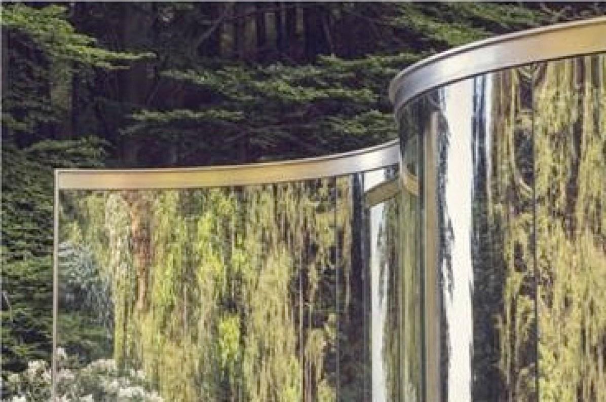 Dan Graham, Two Way Mirror / Hedge Arabesque, 2014, Fondazione Zegna, Triviero (BI) (particolare dell'invito)