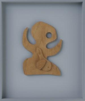 Jean Arp, Ovi Bimba, 1919, legno compensato, 30.5x23 cm, Collezione privata Courtesy Hauser & Wirth Foto Stefan Altenburger Photography, Zürich