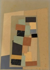 Jean Arp, Composition abstraite / Abstrakte Komposition (Composizione astratta), 1916-17 circa, collage, 33.9x24.6 cm, Collezione privata, U.S.A. Courtesy Blondeau & Cie Foto Courtesy Blondeau & Cie