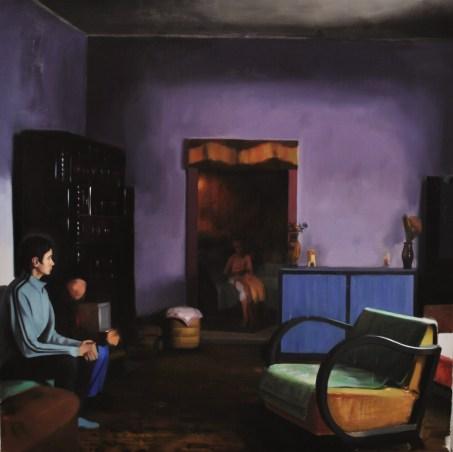 Interior, 2013, oil on canvas, 200x200 cm