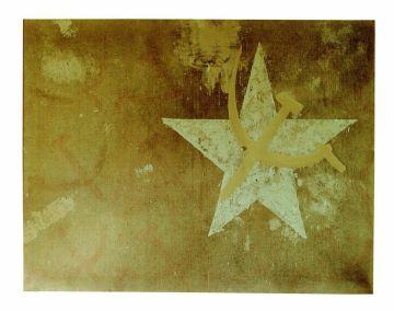 Franco Angeli, 25 luglio, 1963, tecnica mista su tela, 155x200 cm