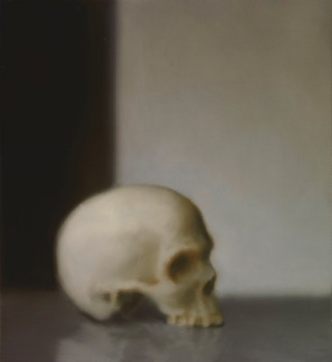 Gerhard Richter, Schädel, 1983 Skull Oil on canvas, 55 cm x 50 cm Loan from a private collection at the Gerhard Richter Archiv, Staatliche Kunstsammlungen Dresden © 2014 Gerhard Richter