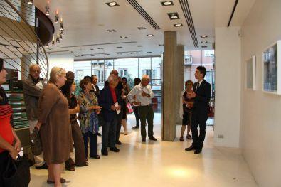 Vita Activa. Figure del lavoro nell'arte contemporanea, Palazzotto Albanese, Pescara Foto Paolo Angelucci (Simone Ciglia durante l'inaugurazione della mostra)
