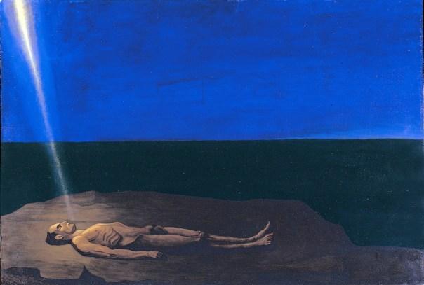 Luigi Russolo, L'uomo morente, 1941, olio su compensato, Collezione privata, Milano