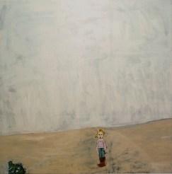 Chantal Joffe, Moll 2001 olio su tavola / oil on board 183 x 183 x 6,5 cm Courtesy the Artist and Victoria Miro Gallery, London © Chantal Joffe