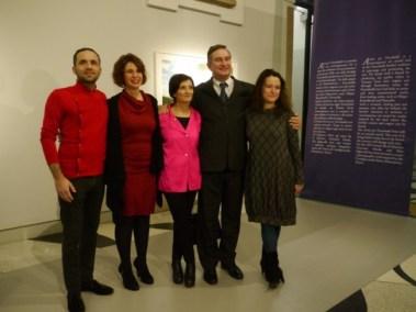 I finalisti del premio Artisti per Frescobaldi 2013 con Tiziana Frescobaldi e Ludovico Pratesi