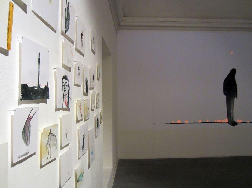 Elisa Muliere, Icaro deve cadere, veduta della mostra(3)