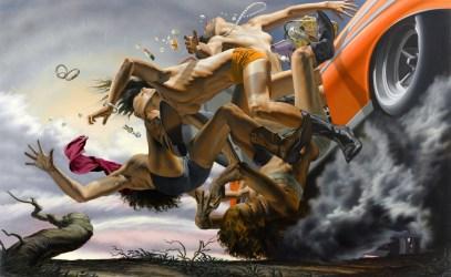 Nicola Verlato, Road to nowhere, 2012, olio su tela, 150x240cm