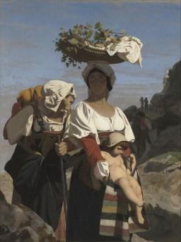 Jean-Léon Gérome, Deux paysannes italiennes et un enfant, 1849, olio su tela, 88.3x67.9 cm Paris, Musée d'Orsay
