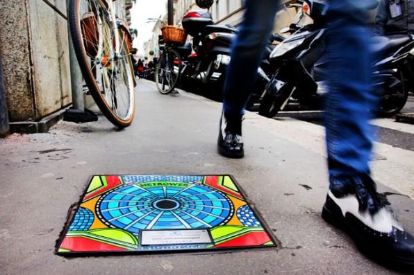 Tombini art in via Montenapoleone, Foto: Sergio Caminata