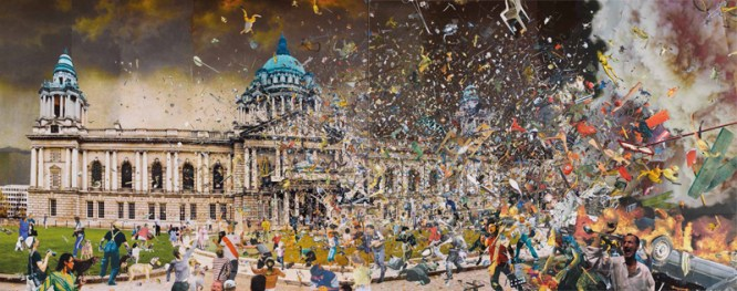 David Mach, The Plague of Frogs - Belfast - 2011 - cm 487.7 x 243.7