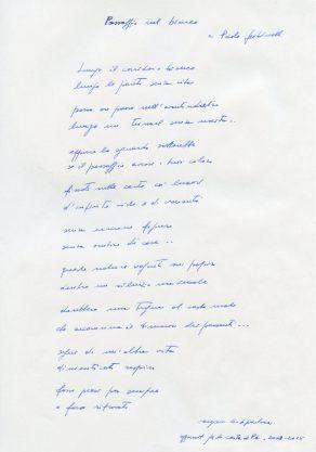 Eugenio De Signoribus, manoscritto inedito
