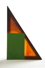 Elio Marchegiani, Gomma geometrica rettangolo verde, 1973, gomma, 147x97x177 cm Courtesy Primo Marella Gallery