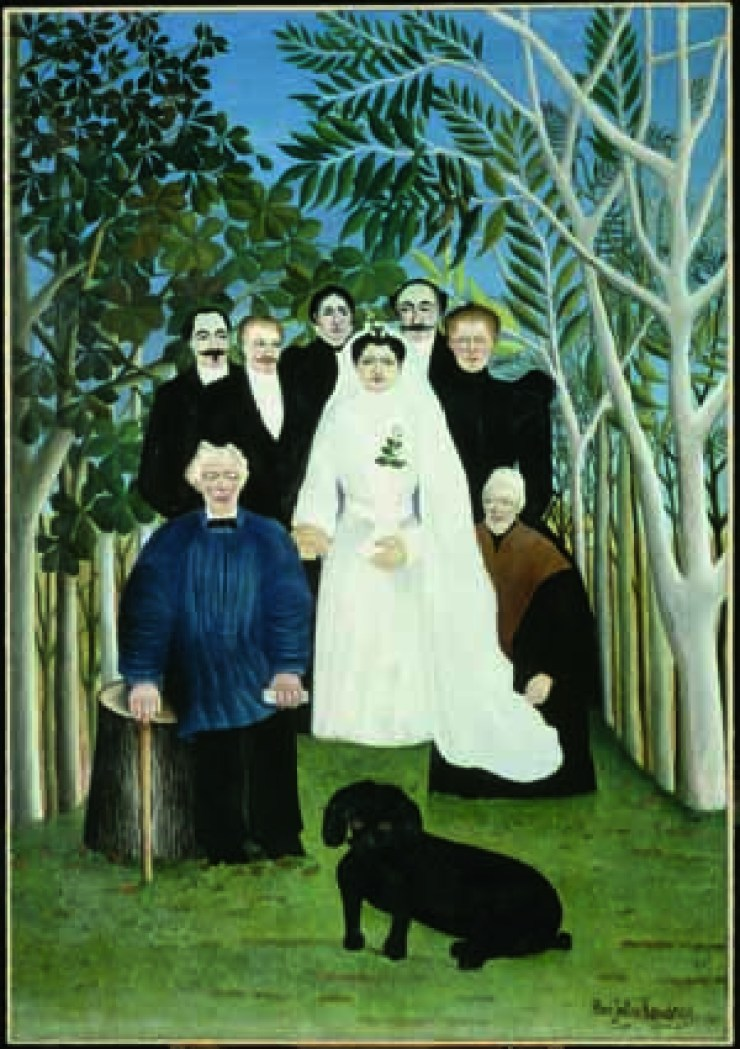 Henri Rousseau La Noce (Une noce à la campagne) / Nozze in campagna 1905 circa olio su tela, cm 163 x 114 Parigi, Musée de l'Orangerie, Collection J. Walter‐ P. Guillaume © RMN‐Grand Palais (Musée d'Orsay)/Hervé Lewandowski