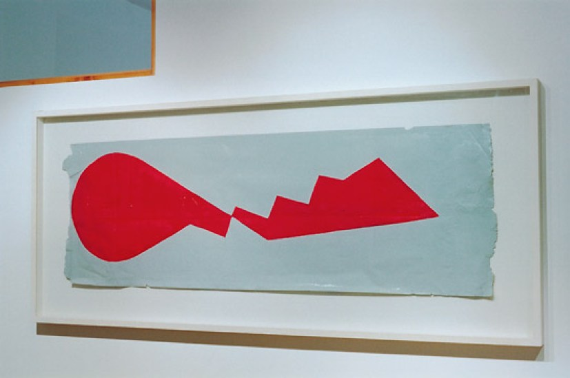 John M. Armleder, Untitled, 1982-84, synthetic resin on paper, 52x158 cm Courtesy Sammlung Ricola Photo Eva-Christina Meier, 2004, Verwaltungsgebäude