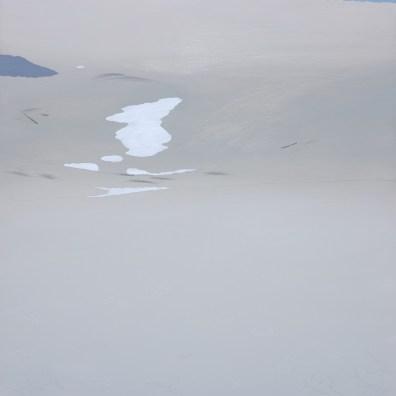 Francesca Consigli, The Remaining Snow Series V, 2015, tecnica mista su tela, cm. 100x100.