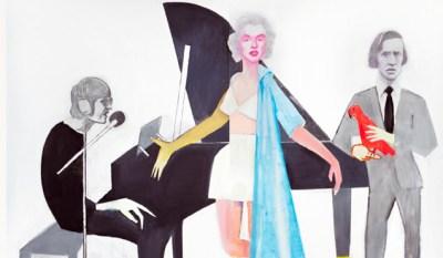 Beppe Devalle, Guardandovi (John Lennon, Marylin Monroe, Frédéric Chopin), 2010, Collezione privata