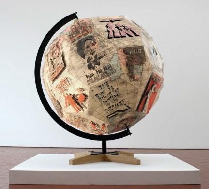 Pietro Ruffo, Revolution Globe III, 2013, acquerello e ritagli su carta, 170x170x180 cm