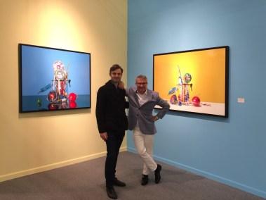 Art New York Fair. Stand della Galleria Bernarducci Meisel, con Gabriele Grones e Frank Bernarducci. Opere di Roberto Bernardi