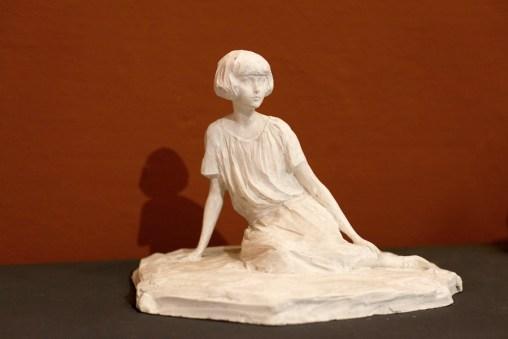 Paolo Troubetzkoy, Sheila Johnson, 1924, gesso non patinato, 23x33x24 cm