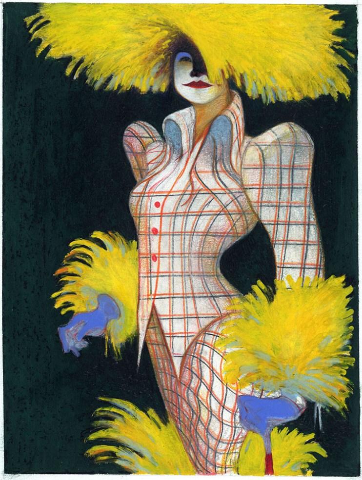 Un capo di Vivienne Westwood, 1993, copertina The New Yorker, © Lorenzo Mattotti