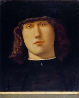 Lorenzo Lotto, Ritratto di giovane, 1502 circa, olio su tavola, 34.2x27.9 cm, Accademia Carrara, Bergamo