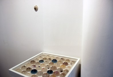 """Angelica Consoli. Persone che abitano la stessa casa, veduta della mostra (serie """"PGR""""), Galleria Melesi, Lecco"""
