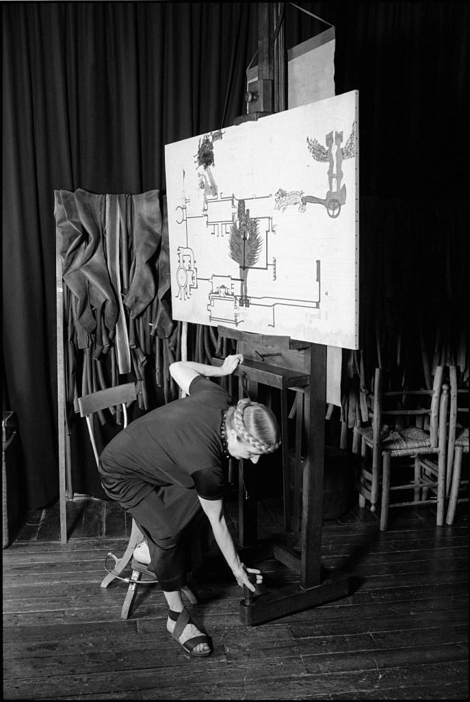 Carol Rama nel suo studio. Foto: Roberto Goffi © Archivio Carol Rama