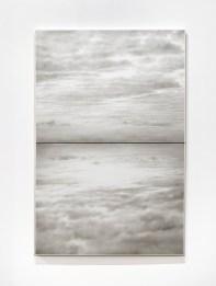 Ettore Frani, Ricucire il cielo, 2017, olio su tavola laccata, 150x100 cm Foto Paolo Vandrasch