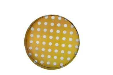 Matteo Negri, Kamigami Yellow Bubble, 2017, tecnica mista su legno, acciaio cromato e verniciato, 60x60x12 cm Courtesy Lorenzelli Arte, Milano