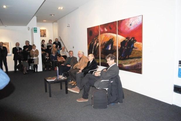 """Trento Longaretti all'inaugurazioen della mostra """"Longaretti mito e metafora"""", allo Spazio Oberdan, Milano 2014-15"""