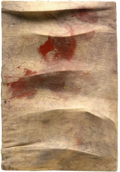 Salvatore Scarpitta, Senza titolo, 1958, tecnica mista su tela estroflessa, 30x20 cm, Collezioni Intesa Sanpaolo © Archivio Attività Culturali, Intesa Sanpaolo Foto Paolo Vandrasch