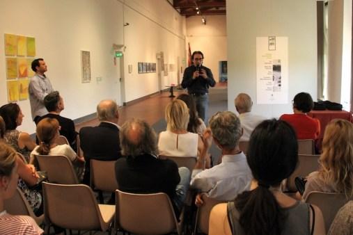 Biennale Giovani Monza 2017, momenti della premiazione dei vincitori, Serrone della Reggia di Monza, Monza