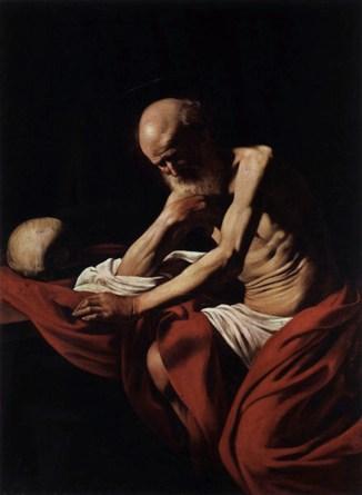 Michelangelo Merisi da Caravaggio, San Girolamo penitente, 1605-1606, olio su tela, 140.5x101.5 cm, Museu de Montserrat, Barcellona © Museum the Montserrat Foto Dani Rovira